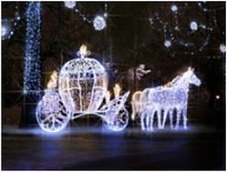 Карета с лошадками LED-EM-008