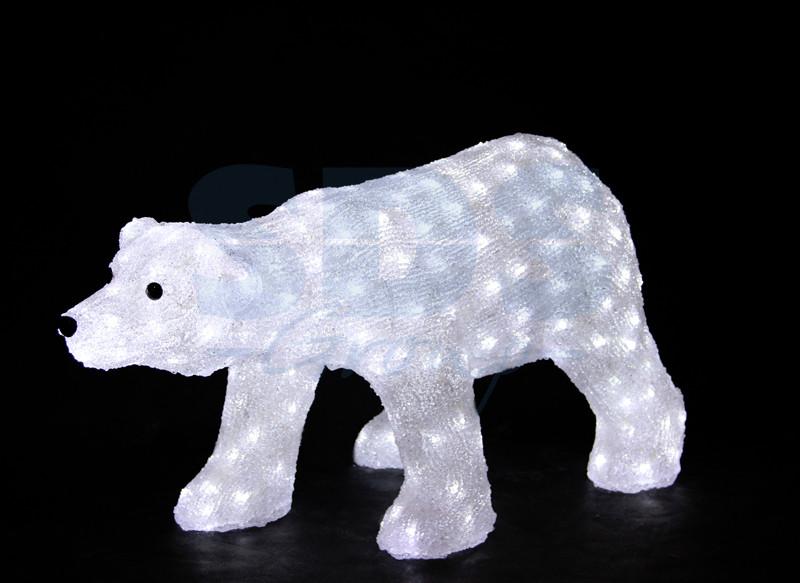 Белый медведь 81х41х45 см