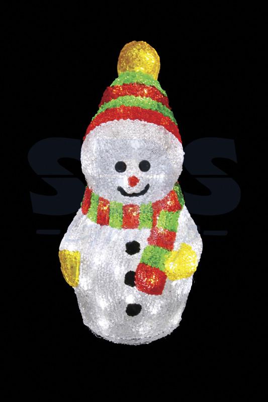 Снеговик с шарфом 30 см