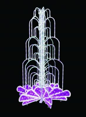 Фонтан LED розовый 522-118