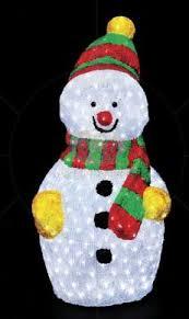Снеговик с шарфом 60 см
