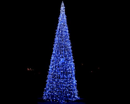 Конусная елка, полуелка