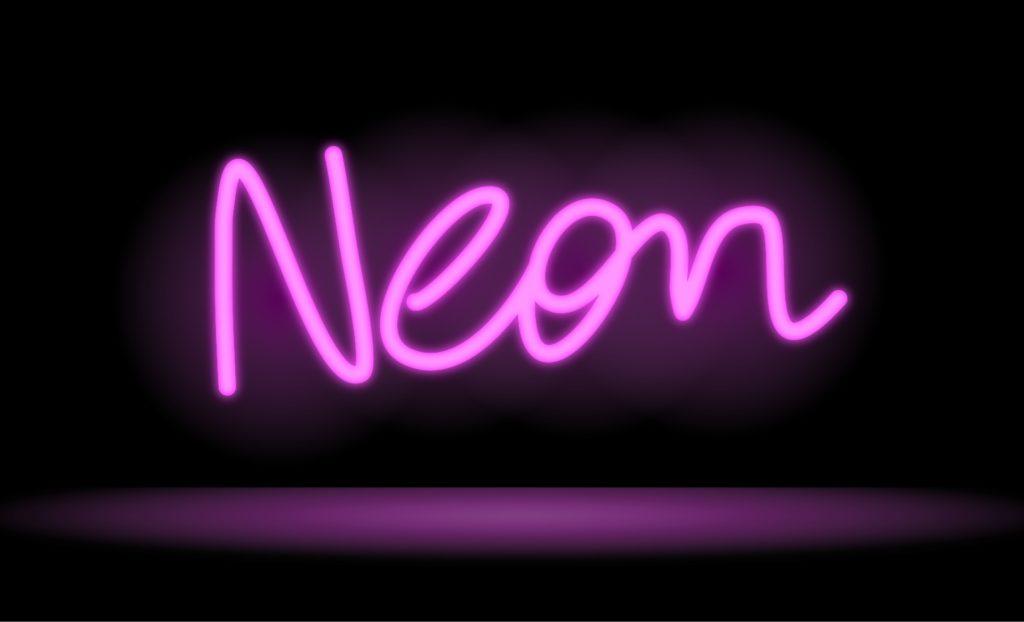 """Неоновая вывеска """"Neon"""""""