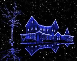 Новогоднее оформление зданий светодиодами