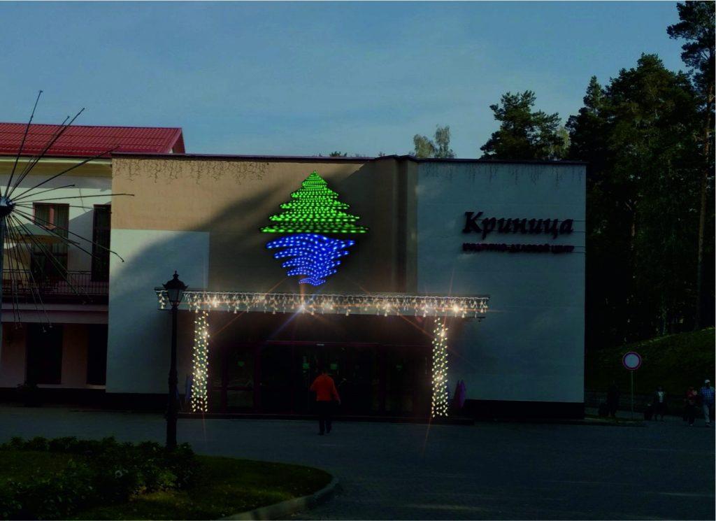 Оформление магазинов светодиодными украшениями