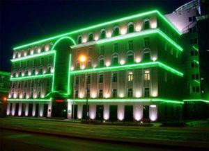 Светодиодное оформление зданий