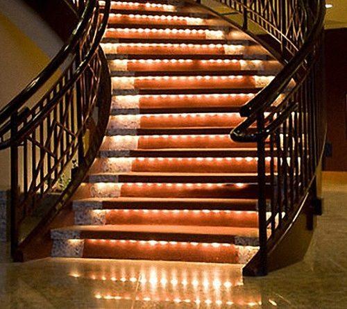 Пример подсветки ступеней