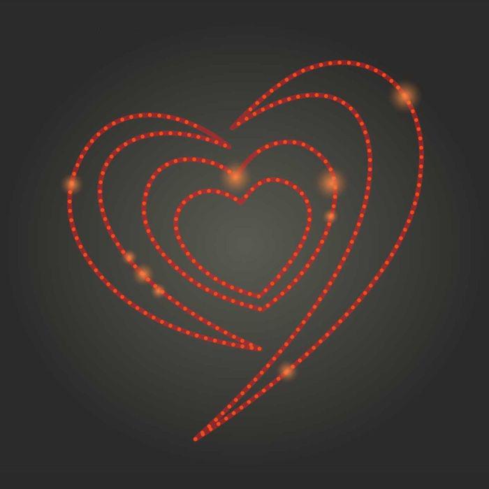 лепестки сердца