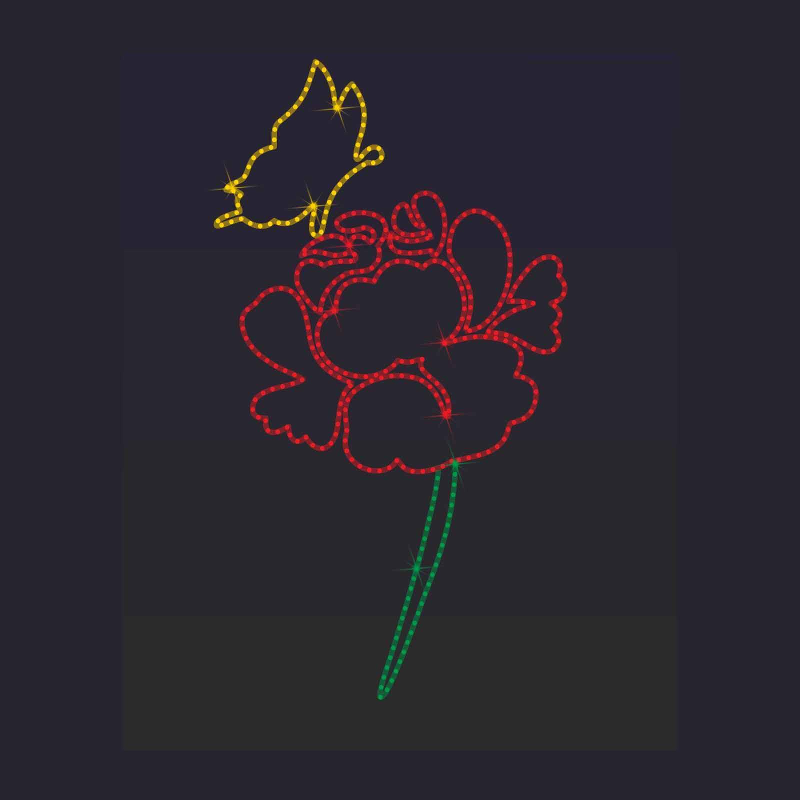 роза и бабочка