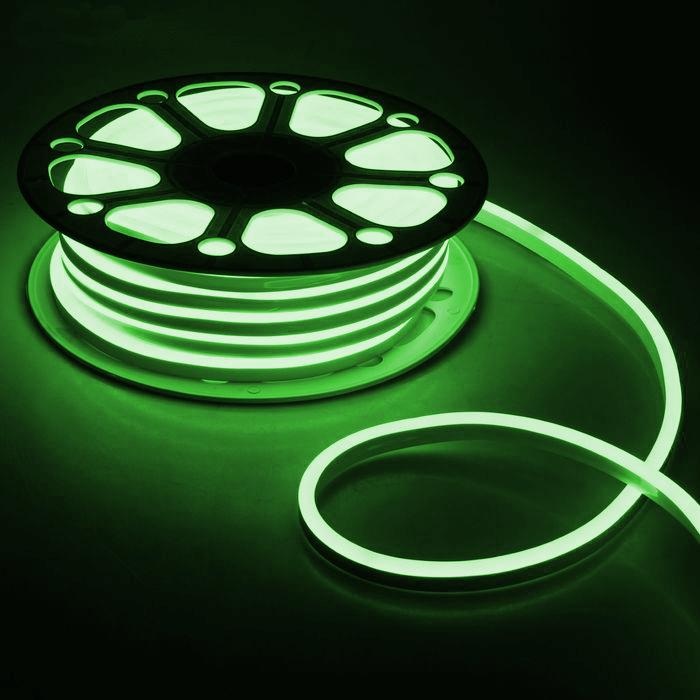 Гибкий неон 8 х 18 мм, 25 м. LED-120-SMD2835, 220 V, ЗЕЛЕНЫЙ