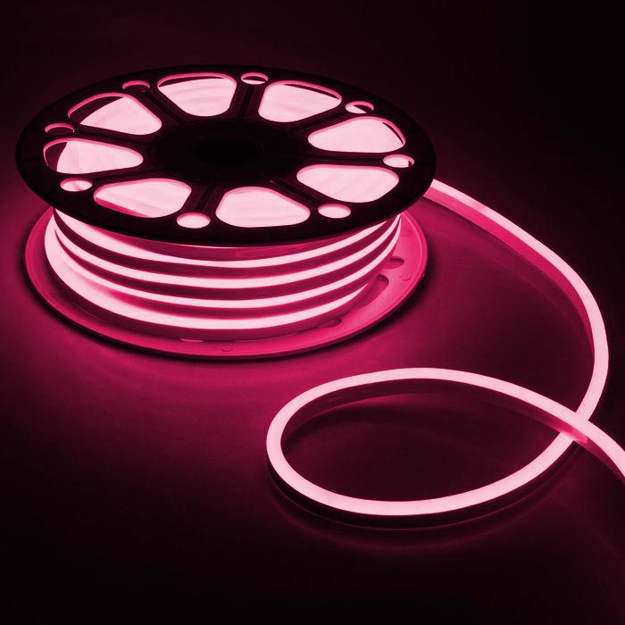 Гибкий неон 8 х 16 мм, 25 м. LED-120-SMD2835, 220 V, РОЗОВЫЙ