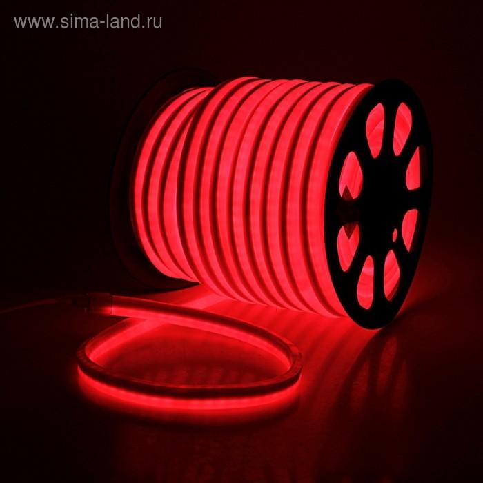 Гибкий неон 12 x 24 мм, 50 м. LED/м-80, 220V, КРАСНЫЙ