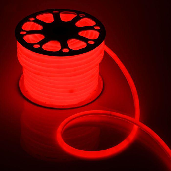 Гибкий неон D16, 50 м. LED-120-SMD2835, 220 V, КРАСНЫЙ