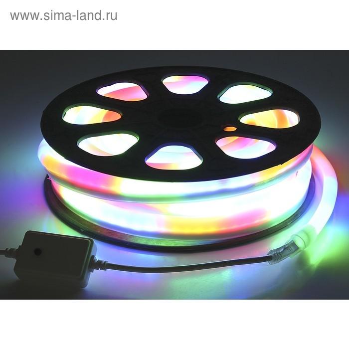 Гибкий неон 12 x 24 мм, 10 м. LED/м-80, 220V, МУЛЬТИ