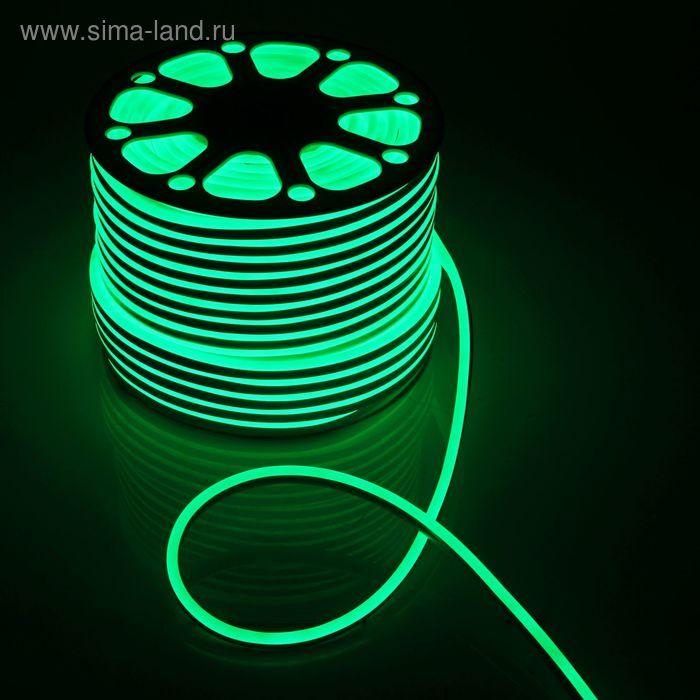 Гибкий неон 8 х 16 мм, 100 м. LED-120-SMD2835, 220 V, ЗЕЛЕНЫЙ