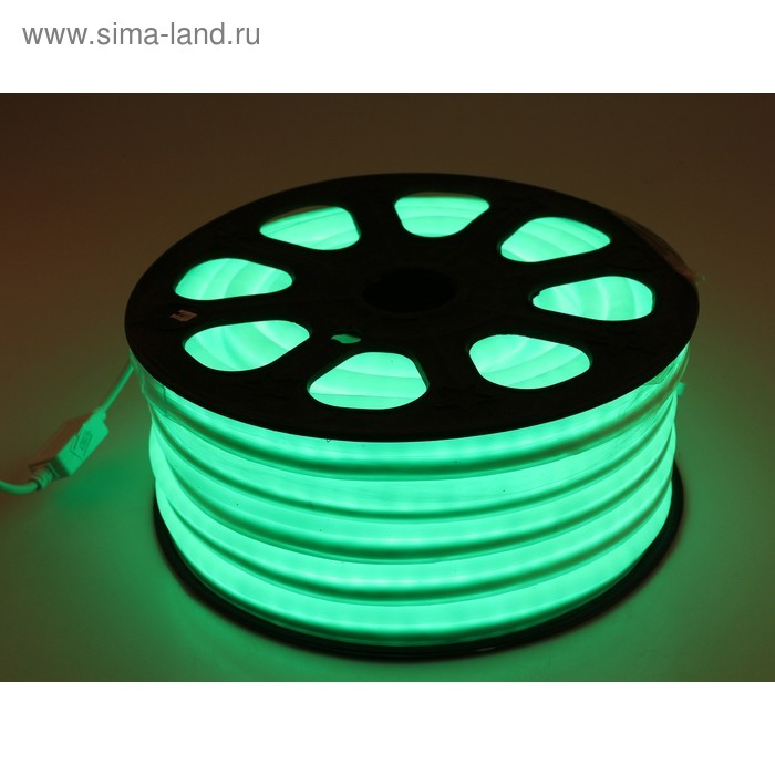 Гибкий неон 12 x 24 мм, 20 м. LED/м-80, 220V, ЗЕЛЕНЫЙ