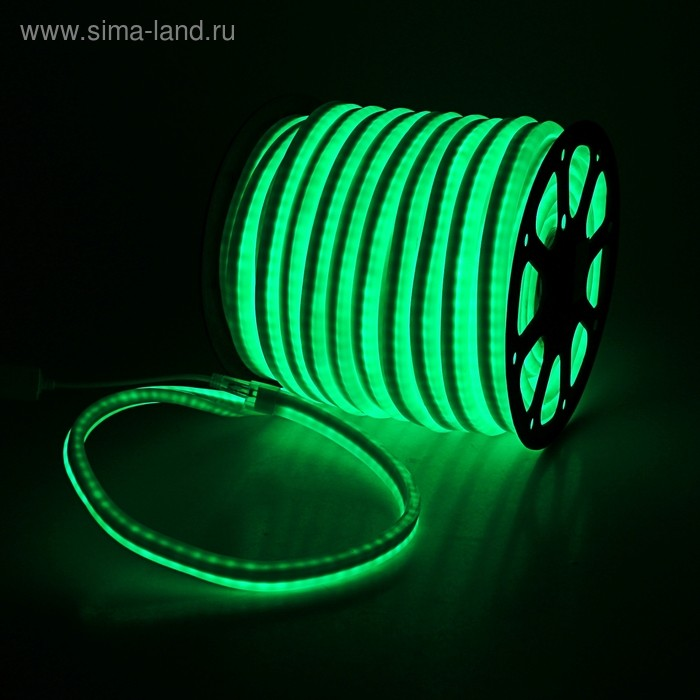 Гибкий неон 12 x 24 мм, 50 м. LED/м-80, 220V, ЗЕЛЕНЫЙ