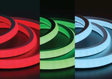Гибкий неон 20x20 мм, 100 м. LN-FX-FCB-4W-5050RGB-240V, RGB
