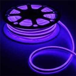 Гибкий неон двухстор. 8 х 18 мм, 25 метров LED-120-SMD2835, 220 V, СИНИЙ