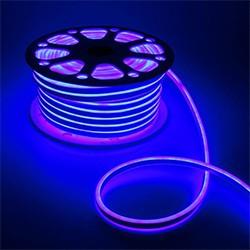 Гибкий неон двухстор. 8 х 18 мм, 50 м. LED-120-SMD2835, 220 V, СИНИЙ