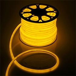 Гибкий неон круглый D 16 мм, 50 метров LED-120-SMD2835, 220 V, ЖЕЛТЫЙ
