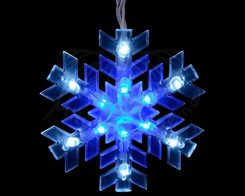 Бахрома из снежинок