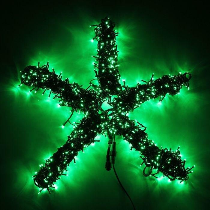 Гирлянда Клип лайт(Спайдер) Зеленый 5х20м