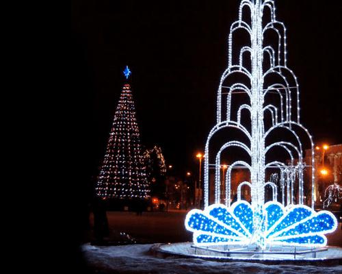 3D светодиодный фонтан