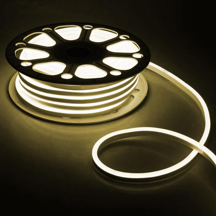 Гибкий неон 8 х 16 мм, 25 м. LED-120-SMD2835, 220 V, ТЕПЛЫЙ БЕЛЫЙ