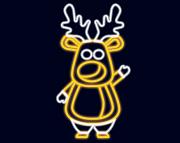 Световой олень Олег
