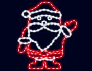 световой дедушка мороз